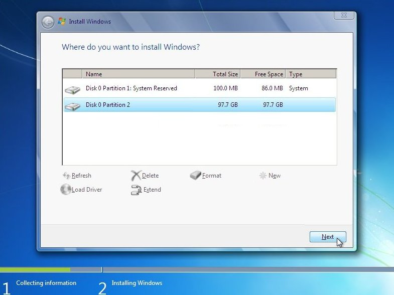 Fresh & clean Install of Windows 7 on a new hard drive