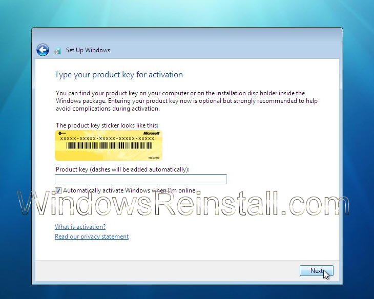 Reinstall and format of windows 7 ultimate for Window 7 ultimate product key